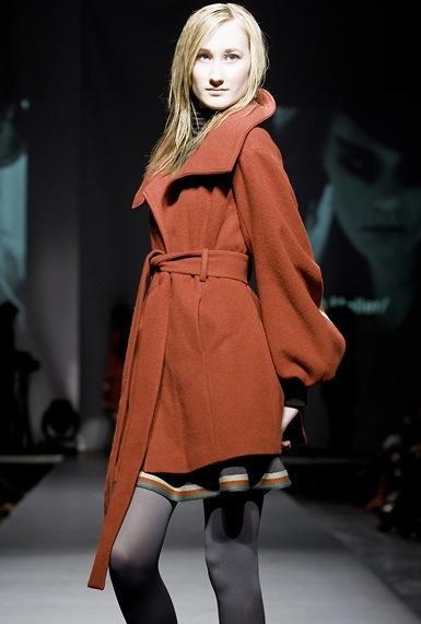 Half & half coat i rødt
