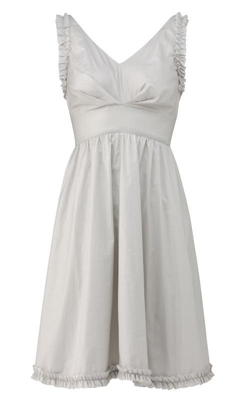320 la bella kjole i lys grå