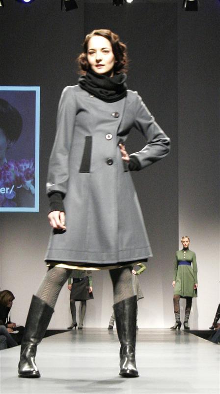 A-Army coat i stålgrå ull