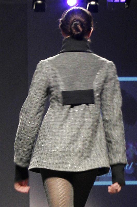Strikket detalje i ryggen