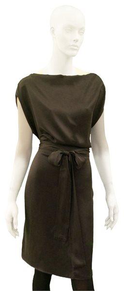 633 winter silk dress