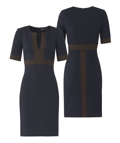 W85 Graphic slim dress