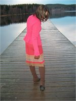 Knitted ensemble in pink