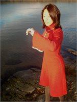 Strikket kjole i rødt