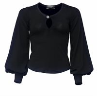 21 Puff sweater in black jersey