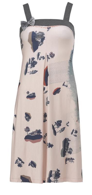 206 strap dress in print