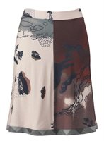 207 jersey skirt in print