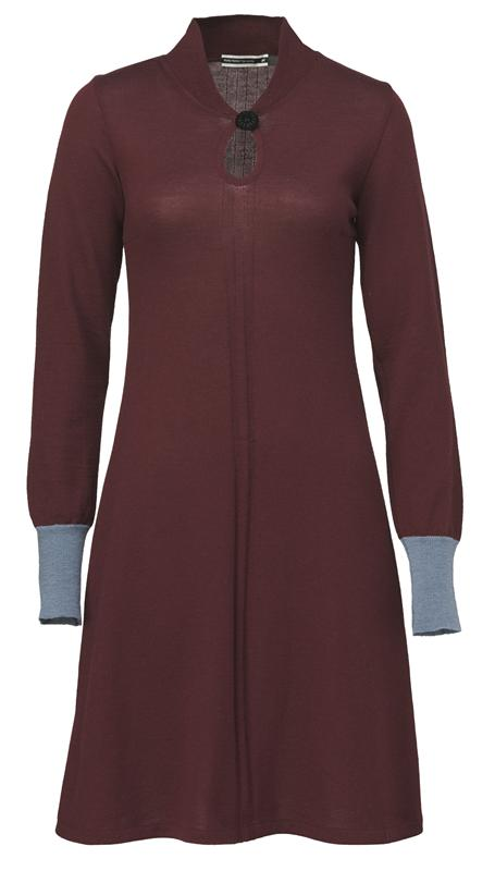 101 Knit tunic i port/blå