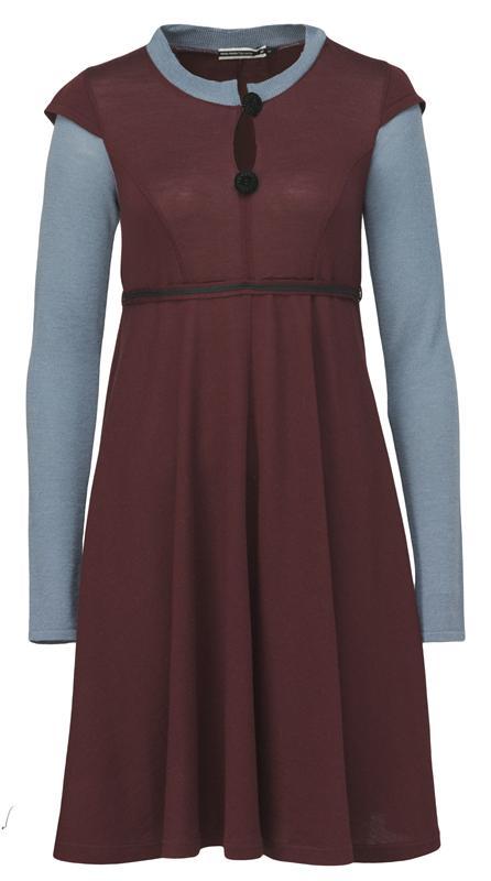 103 wide dress i port/blå