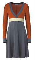 902 kumiko wrap dress in orange