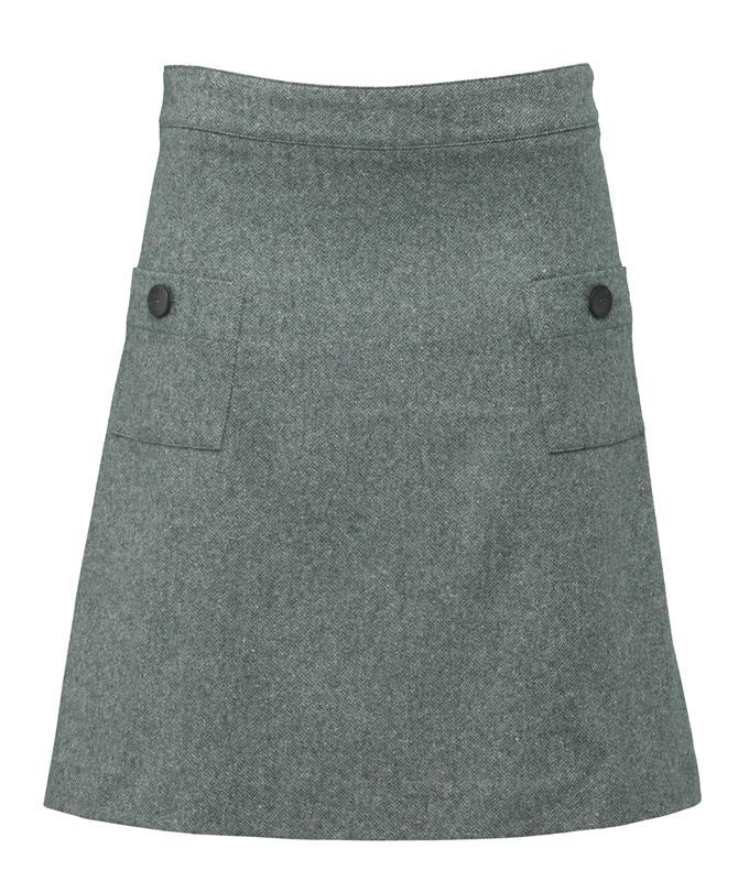 Pocket skirt i grønt
