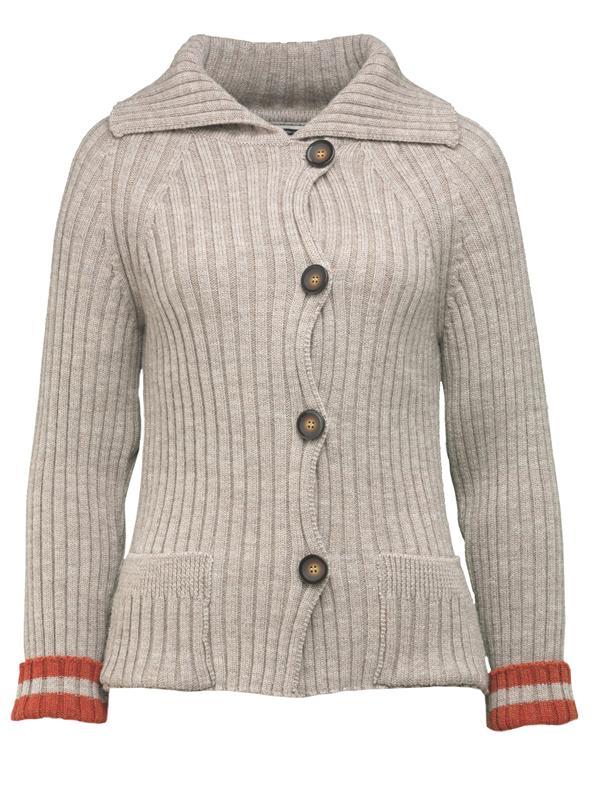 Kort, ribbestrikket jakke