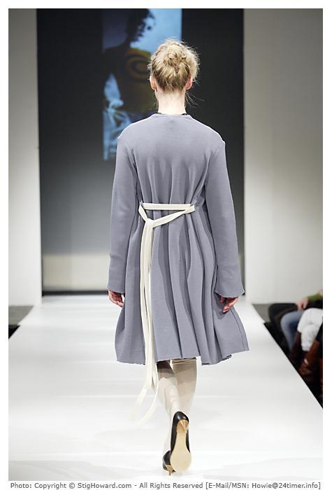 Lang jakke med belte