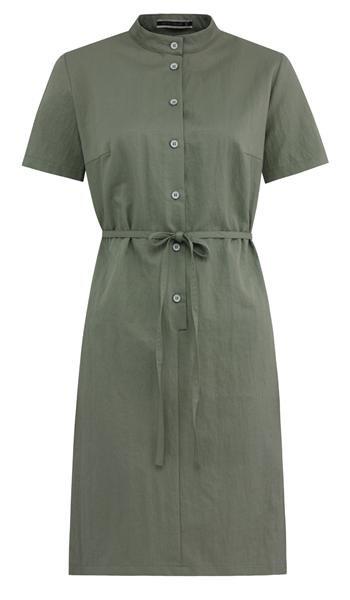 september shirt dress s - moss (kjole)
