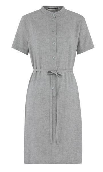 september shirt dress m - light grey (kjole)