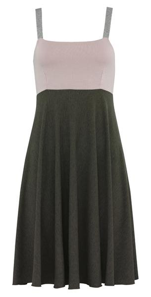 summer strap dress - dark grey (kjole)