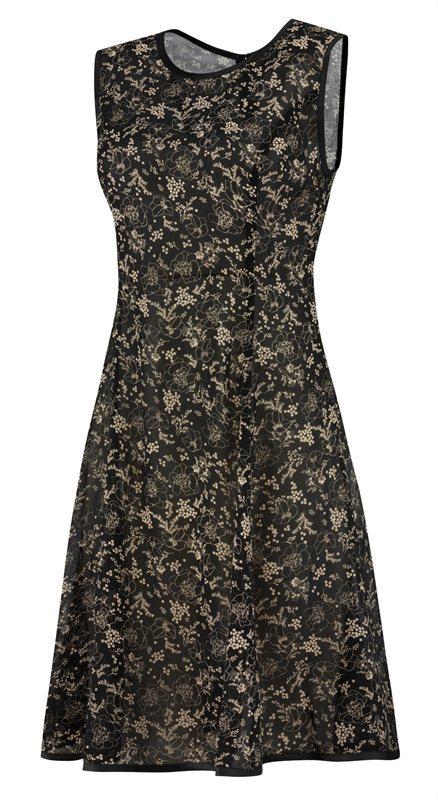 F80 Black flower dress - black flower (kjole)