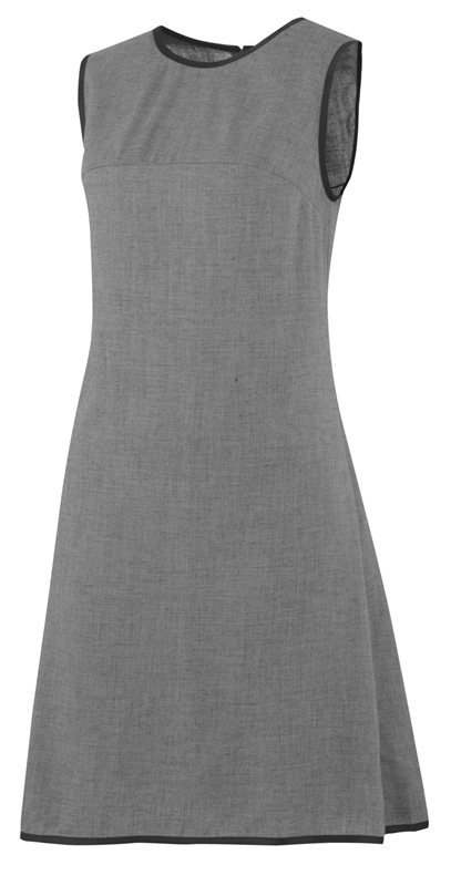 F100 coco grey dress - dark grey (kjole)