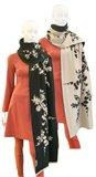 E54 Asian Bloom scarf - beige (tilbehør)