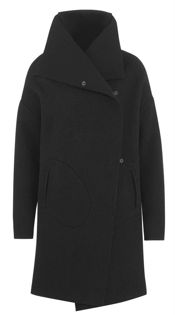 W104 Limoges coat black - black (yttertøy)