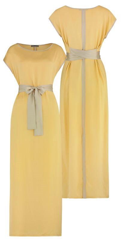 Long Summer silk dress - joba yellow (kjole)