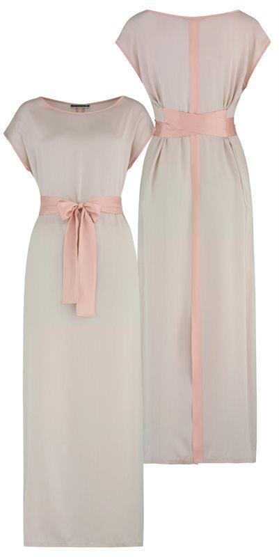 Long Summer silk dress - doeskin (kjole)