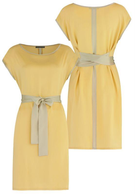 Summer Silk dress - joba yellow (kjole)