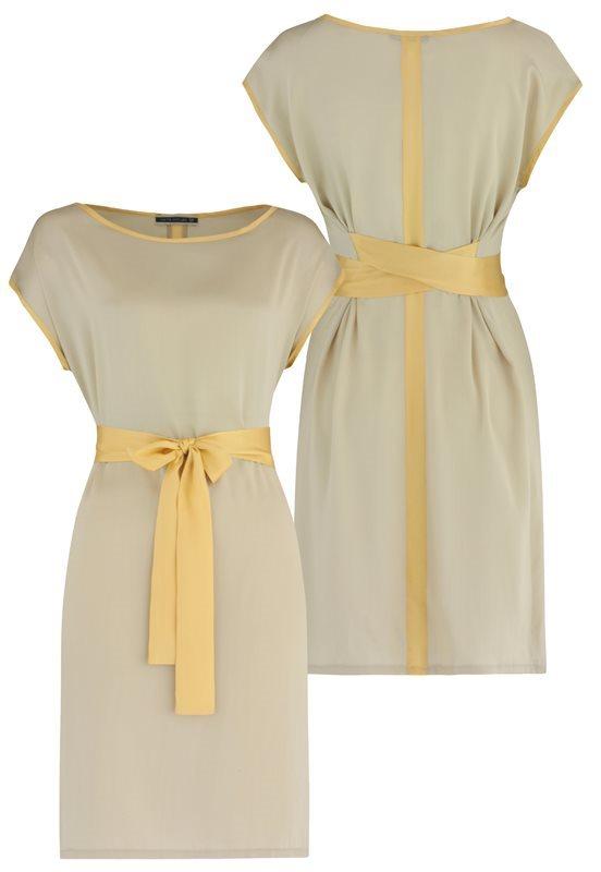 Summer Silk dress - pale olive (kjole)