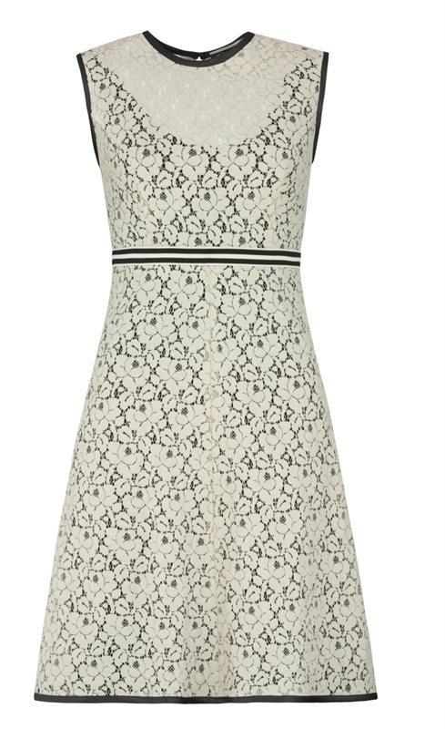 Summer Small Lace dress - beige lace (kjole)