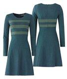 W84 Graphic dress - sea/moss (kjole)