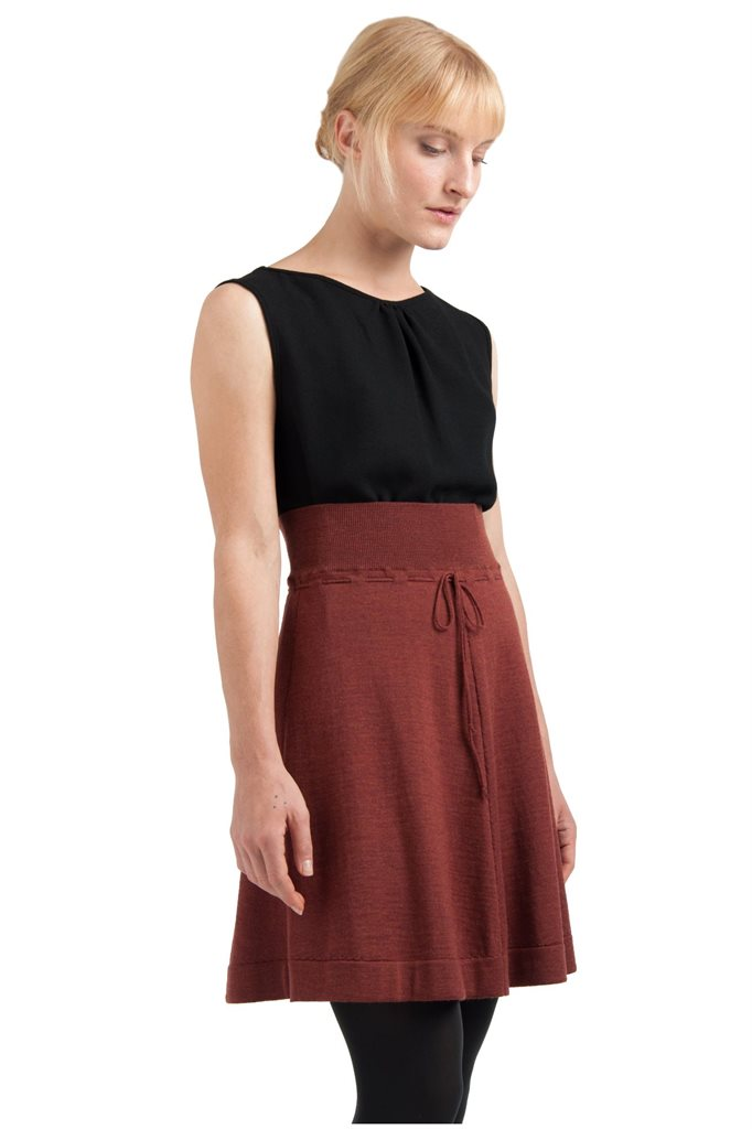 C19 Classic wide skirt - rust (skjørt)