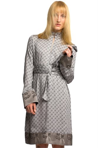 Smoothie shirt dress print - gray print (dress)
