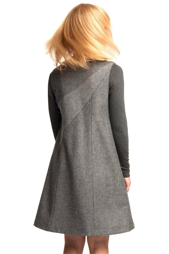 W121 Fish wide dress - grey (kjole)