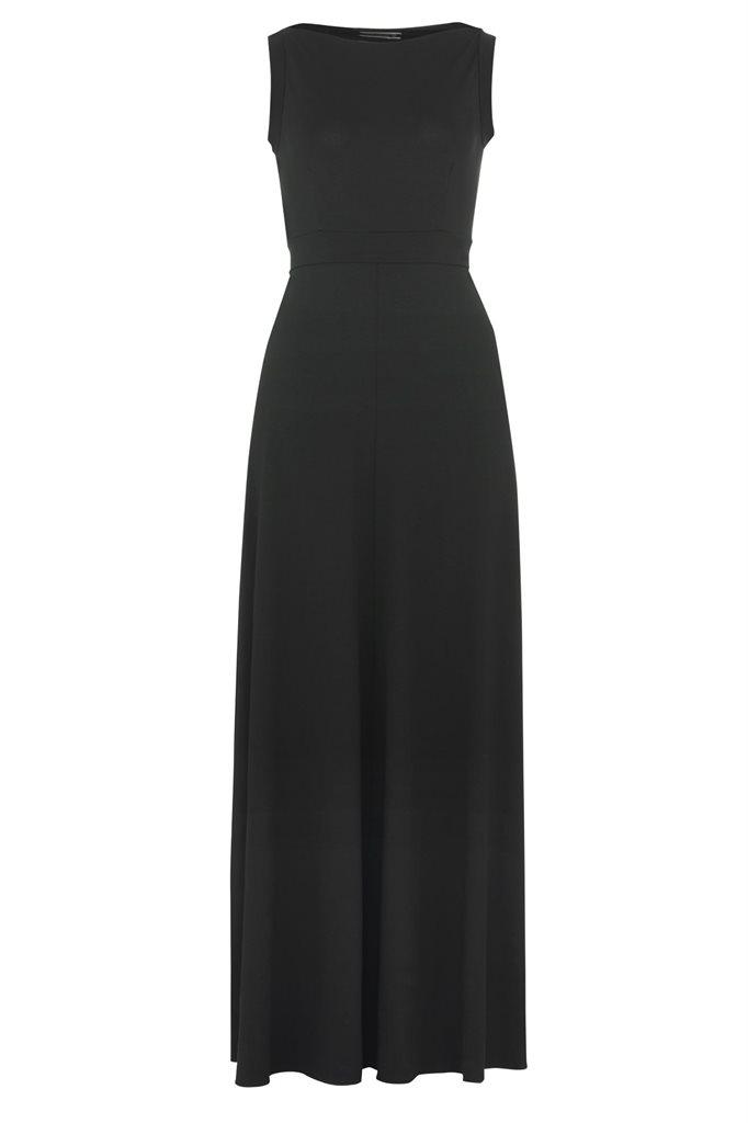Pipp long dress - black (kjole)