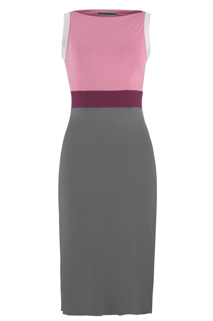 Pipp slim dress - pink mix (kjole)