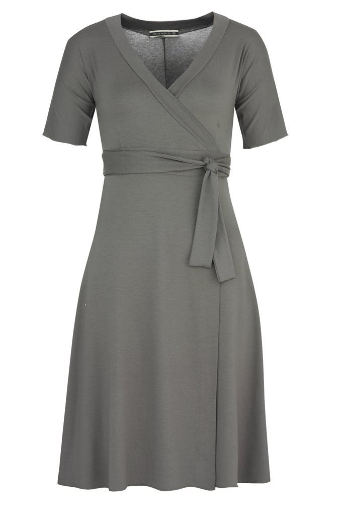 Pipp wrap dress - stone (kjole)