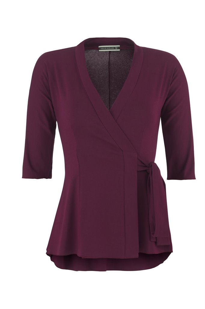 Pipp wrap top - wine (topp)