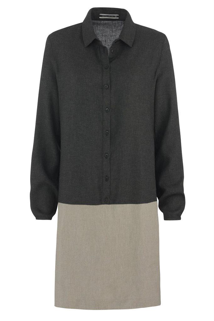Birdy shirt dress - mel grey (kjole)