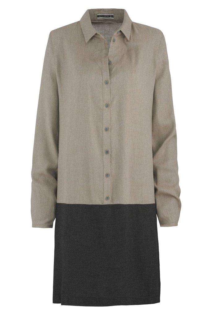 Birdy shirt dress - mel beige (kjole)