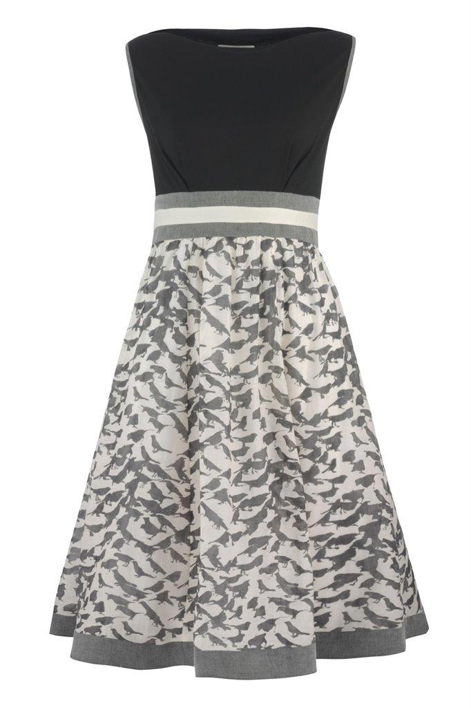 Birdy dress - black bird (kjole)