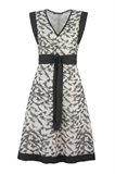 Birdy Kimono dress - black bird (kjole)