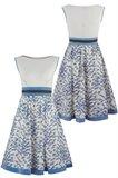 Birdy dress - blue bird foran og bak (kjole)