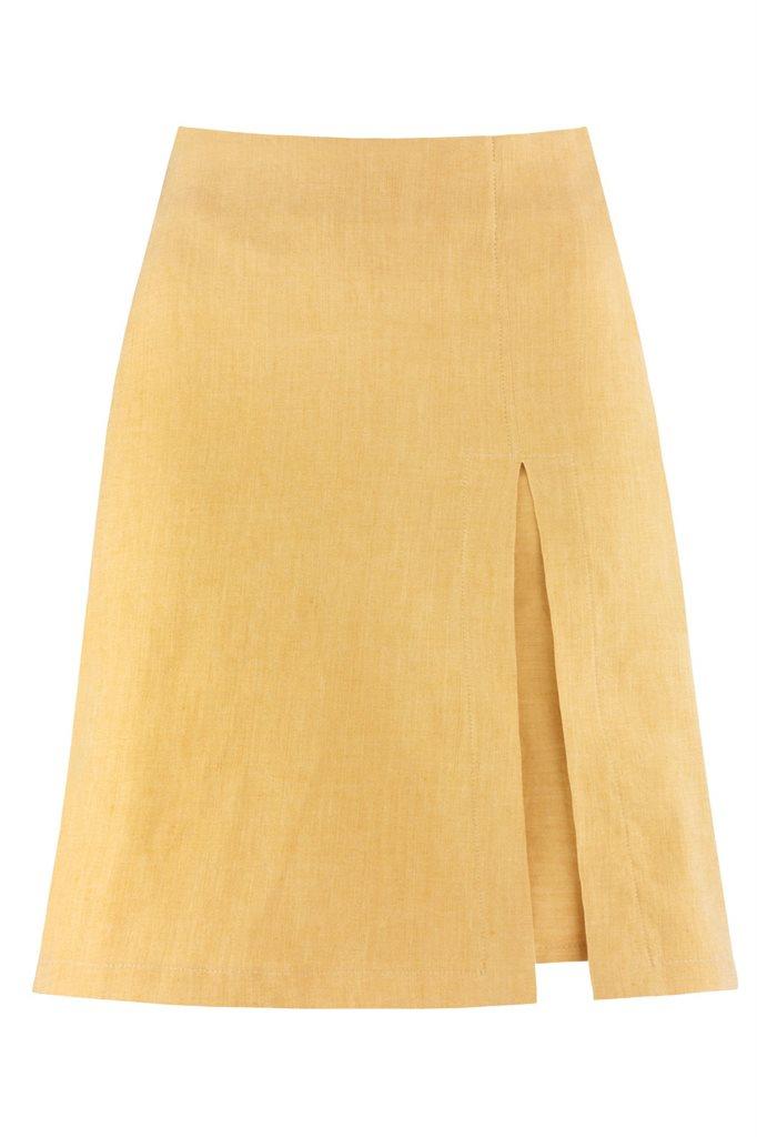 W91 Mochi skirt yellow - yellow (skirt)