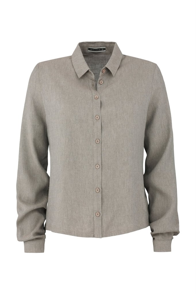 Birdy shirt solid - beige (skjorte)