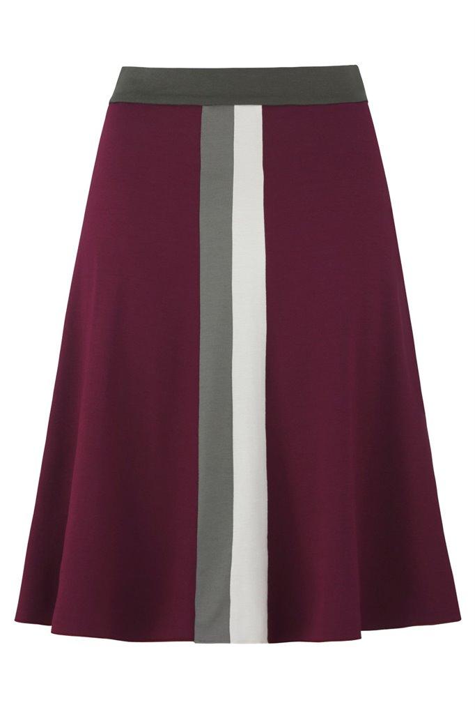 Pipp wide skirt - wine mix (skjørt)