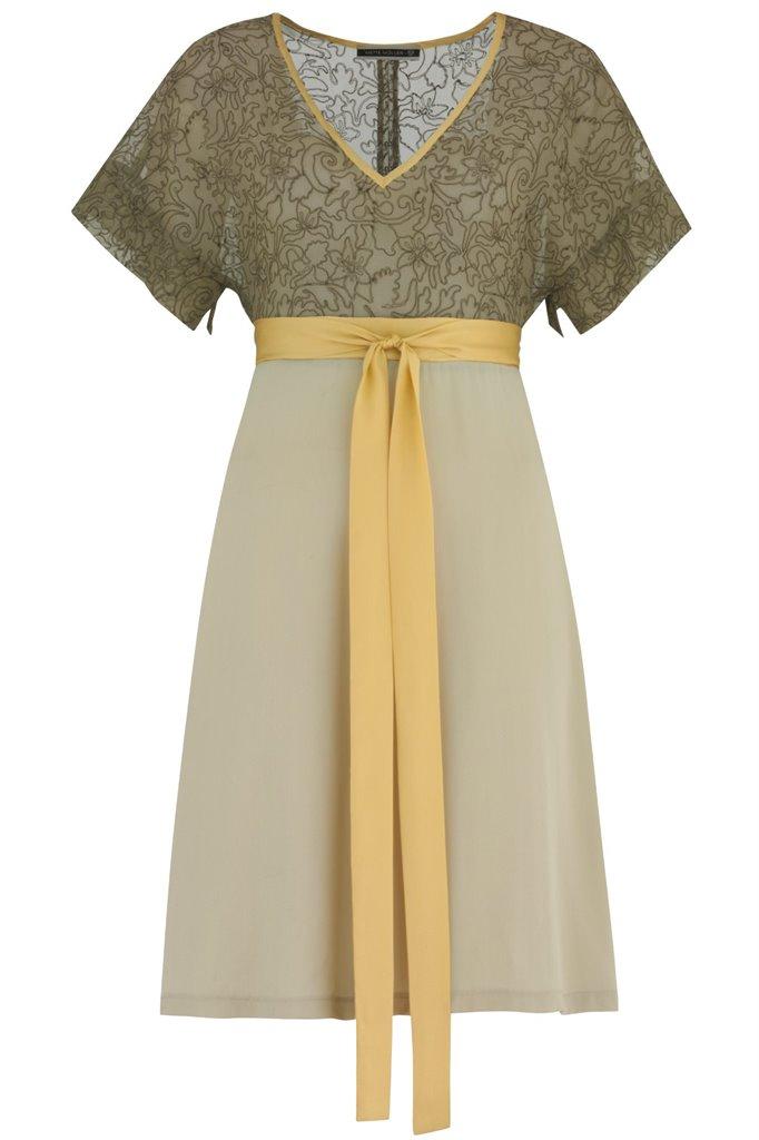 Summer Love dress emb. - pale olive (kjole)