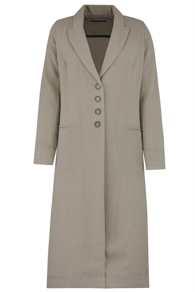 F103 Linda coat - beige (yttertøy)
