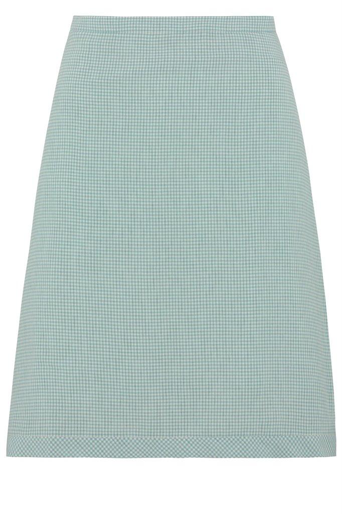Strawberry thief skirt - mint pepita (skjørt)