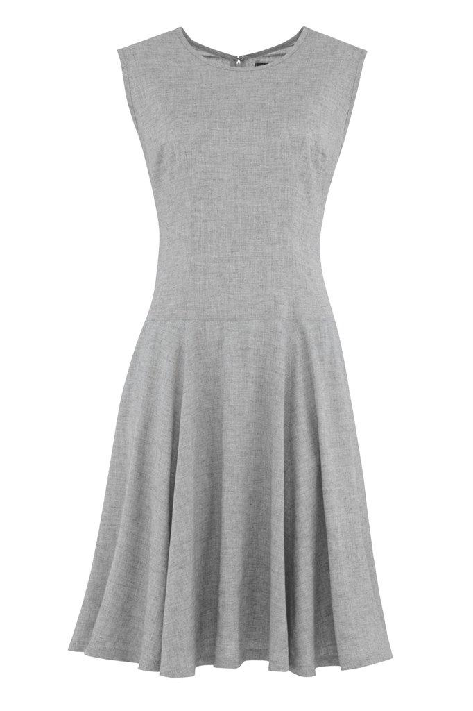 september swing dress m - light grey (kjole)