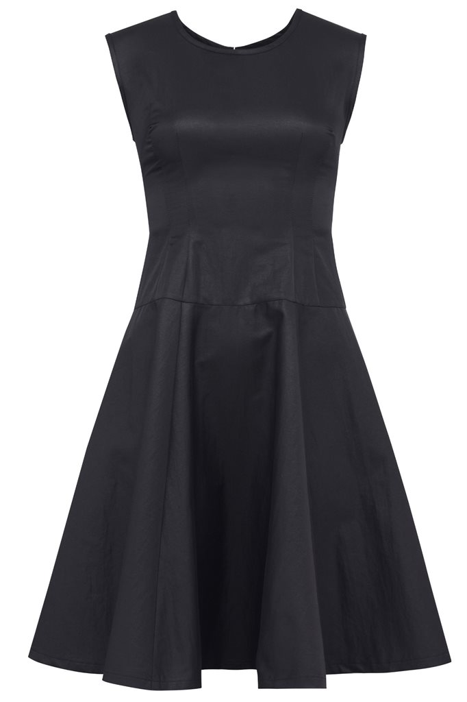 september swing dress s - black (kjole)